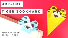 Origami Tiger Bookmark - Origami Instructions, Directions, Tutorial for DIY Paper Tiger Bookmark