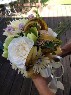 Woodsy Bridal Bouquet in silk