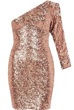 Penny Lane Dress: Features an elegant one-shoulder design with an elbow length sleeve to the left, hundreds of glittering sequin pieces covering the entire dress, and a sleek form-fitting silhouette to finish. Nye Dress, Dress Me Up, Party Dress, New Years Eve Dresses, Prom Dresses, Formal Dresses, Penny Lane, Stylish Eve, Playing Dress Up