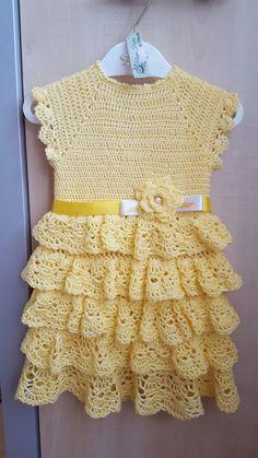 Rochita crosetata pentru fetite,crochet dress