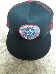 Captain America Trucker Snapback Trucker Hat  fashion  clothing  shoes   accessories  mensaccessories 7f744c484d6f
