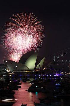 Astonishing Snaps of Fireworks ! Part - 1 - Fireworks, Sydney, Australia.