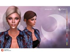 bergdorf x nightcrawler collab mina hair - The Sims 4 Download - SimsDomination Aurora Hair, The Sims 4 Download, Alpha Female, Sims 4 Custom Content, Sims Cc, Kylie Jenner, New Hair, Hairstyle, Guys