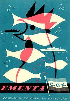 Via Boom Underground: 1962 menu from the Santa Maria of the CCN cruise line