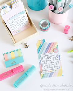 Diy Bonitos, Washi, Cute Office Decor, Scrapbook, Desk Organization, Life Inspiration, Stationary, How Are You Feeling, Eyeshadow