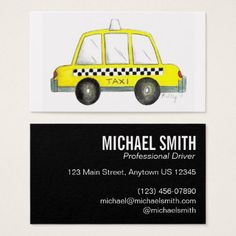 Modern qr code cab taxi driver business card exceptional business professional yellow nyc checkered taxi cab car driver chauffeur business card colourmoves