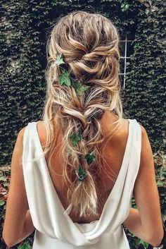 """42 Boho Wedding Hairstyles ❤️ Here you will find a plethora of boho wedding . """" Boho Hairstyles, 42 Boho Wedding Hairstyles ❤️ Here you will find a plethora of boho wedding hairstyles for any tastes, starting with elegant braided updos and ending . Romantic Wedding Hair, Wedding Hair And Makeup, Wedding Curls, Wedding Braids, Trendy Wedding, Wedding Ideas, Hairstyle Wedding, Style Hairstyle, Bohemian Wedding Hairstyles"""
