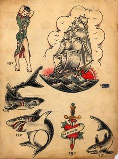 Tattoos Robert Pho Page 2 A Sailor Pin Up Girl. Jerry Sailor Tattoos Original Tongue In Cheeck Old School Tattoos. Traditional Sailor Tattoos, Traditional Tattoo Design, Traditional Ink, Traditional Tattoo Flash, American Traditional, Flash Art Tattoos, Sailor Jerry Flash, Tattoo Vieja Escuela, Los Mejores Tattoos