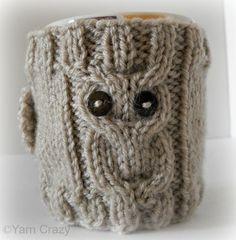 Owl Coffee Mug Cozy - via @Craftsy