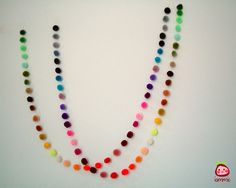 Pom Pom Garland, Wholesale, Yarn Pom Pom Garland, Party, Wedding, Colorful…