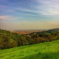 il rosso Bologna in lontananza spicca in mezzo alle colline di #villaghigi <3 - Instagram by vipenzo81