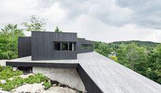 La Héronnière by Alain Carle Architecte in Wentworth, Quebec
