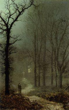 Lovers in a Wood | John Atkinson Grimshaw | 1873