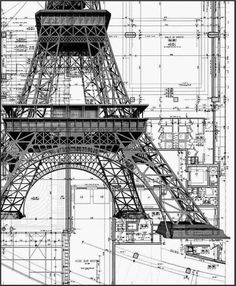 7 best structrue images on pinterest architectural drawings eiffel tower construction details malvernweather Image collections