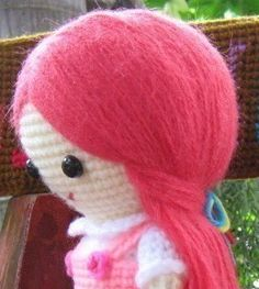 Tutorial to make Hair for an Amigurumi Doll ~ Amigurumi crochet patterns ~ K and J Dolls / K and J Publishing