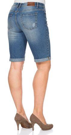 sheego Trend Lässige Jeansbermudas - light blue | Damenmode online kaufen