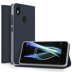 Case Cover for BQ aquaris x pro Bag Fundas Card Slot Design PU Leather TPU Stand Phone Cases for BQ aquaris x pro Shell - Black