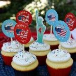 Fourth of July Cupcake Toppers - June 2013