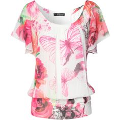 Jane Norman Butterfly Rose Sub Print Top and other apparel, accessories and trends. Browse and shop 21 related looks.