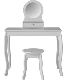 Buy Mia Dressing Table and Stool - White at Argos.co.uk - Your Online Shop for Children's dressing tables, Children's dressing tables.