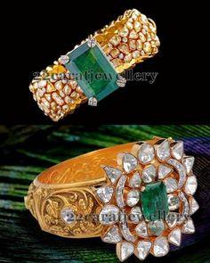 Jewellery Designs: Attractive Glitter Diamond Kadas