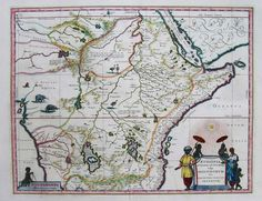 EAST AFRICA AETHIOPIA SUPERIOR VEL INTERIOR || Michael Jennings Antique Maps and Prints