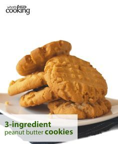 Try this fan-favourite recipe for tasty cookies that are as easy as they are delicious. All you need is three ingredients to whip up a batch. Click or tap the photo for this Super Easy Peanut Butter Cookies #recipe.