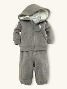 Hooded Fleece & Pant Set - Outfits & Gift Sets   Layette Boy (Newborn-9M) - RalphLauren.com
