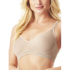 d35ec95789370 Blissful Benefits by Warner's - easy sized simple sized no bulge wirefree  bra, style rm3911w