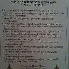 Preserve you family history!