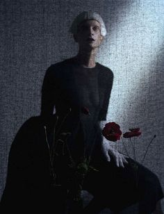 Black And Roses | Kristen McMenamy | Tim Walker #photography | Vogue Italia October 2012