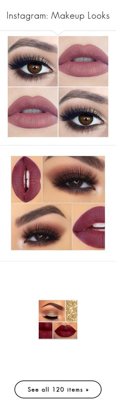 """""""Instagram: Makeup Looks"""" by adorablequeen ❤ liked on Polyvore featuring makeup, eyes, lips, beauty, beauty products, eye makeup, anastasia beverly hills cosmetics, anastasia beverly hills, anastasia beverly hills makeup and palette makeup"""