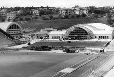 Acervo/Estadão - OEstádio Municipal Paulo Machado de Carvalho, o Pacaembu, durante a construção da Concha Acústica na década de 30