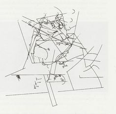 "William Forsythe ""The loss of a small detail"" Choreographic diagram, Frankfurt Ballet, 1991 From: Danse et architecture. Nouvelle de danse 42/43. Editions Contredanse"