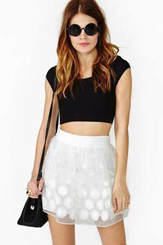 Daisy Chaser Skirt - White
