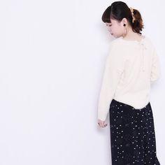 POUDOUDOU  STAFF COORDINATE ---------------------------------------------------- knit 5200tax pants 5900tax (model sakuma from atre kawagoe)  #poudoudou#pdd16aw