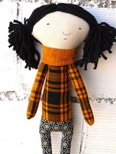 Muñeca Puri de algodón / 48 cm / OOAK por AntonAntonThings en Etsy