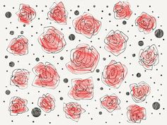 Rose e Pois Pattern - madewithpaper