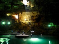 Surreal Places To Visit Before You Die ~ These sinkholes in Mexico were formed during the ice age and were held sacred by the Mayans.