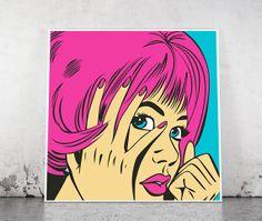 Comic Book Pop Art Poster - Downloadable Vector File
