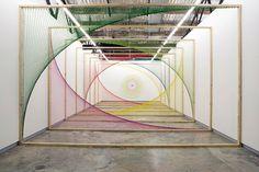 Artist Nike Savvas transforms mathematic formulas into beautiful perspective sculptures.