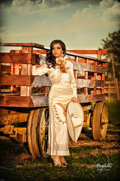 Blanca Marin - Charro outfit - Promotional ad. This traje is so pretty