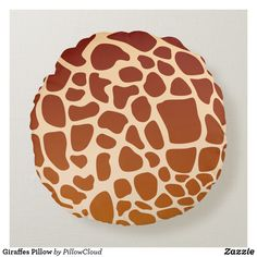 Shop Giraffes Pillow created by PillowCloud. Soft Pillows, Throw Pillows, Round Pillow, Giraffes, Colorful Decor, Create Your Own, African, Shades, Beige