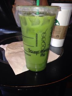 Cheap Starbucks Healthy drink  Ask for Venti Ice water with 3 scoops of matcha. They won't charge your for other than the matcha. This Venti drink cost me  $.75. I asked for agave on the side & added a splash of half and half at the bar to save the cost.   My new all-time drink.
