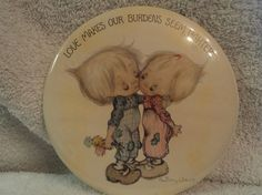 Vintage Precious Moments button by WhiskeysWhims on Etsy