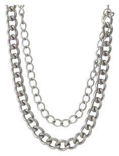 Stella & Dot Stella and Dot La Coco Curb Chain Necklace Sliver