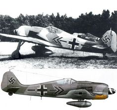 Fw 190A-8 of Kurt BUHLINGEN, the last Kommodore of JG 2, photographied in France in June 1944.