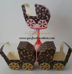 Designer Inspired Baby Carriage centerpiece