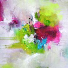 Titel: Journaling  Originele kunst Acryl schilderij op gespannen doek.  +++++++++++++++++++++++++++++++++++++++++++  GESPANNEN op houten FRAME & klaar te hangen  +++++++++++++++++++++++++++++++++++++++++++  Afmeting: 100 cm x 100 cm (39.37 inch x 39.37 inch), het doek is 2 cm (0.78 inch) diep.  Een duidelijk glanzende coating heeft is aangebracht op het oppervlak ter bescherming van het schilderij van UV-licht, vocht en stof. Nietjes zijn op de achterkant en de randen zijn geschilderd met...