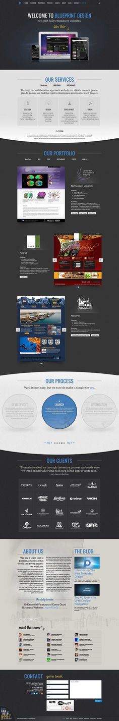 Responsive web design the coolest thing in code design blueprint design single page scroll design malvernweather Choice Image